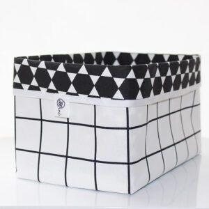 Stoffkörbchen_Karo-Black&White_1