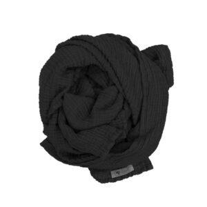 Musselin Tuch/Schal XL – Schwarz