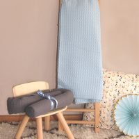 Decke-Waffeljacquard_Blue