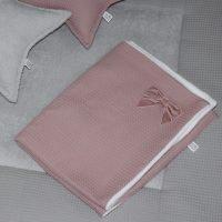 Babydecke-Waffelpiqué-Altrosa001